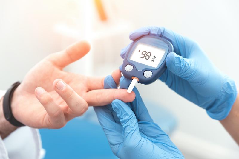 Diabetes bloed glucose prikken