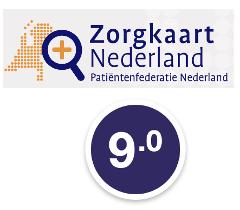 Waarderingen van Zorgkaart Nederland